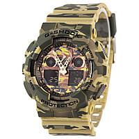 Мужские кварцевые наручные часы Casio G-Shock GA-100CM-5AER. Копия AAA класса