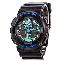 Мужские кварцевые наручные часы Casio G-Shock GA-100CB-1AER. Копия AAA класса