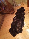 Килим з 2-х овечих шкур, коричневий, фото 2