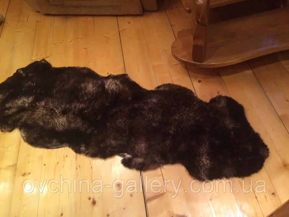 Килим з 2-х овечих шкур, коричневий