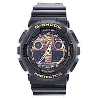 Мужские кварцевые наручные часы Casio G-Shock GA-100CE. Копия AAA класса