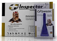Капли на холку Inspector (инспектор) от гельминтов, блох и клещей  для собак до 4кг
