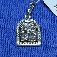 Серебряная нательная иконка Николай Чудотворец 40502мм