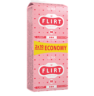 """Прокладки для критических дней """"FLIRT Ultra DUO"""" Cotton & Care, 3, 20шт, 240мм"""