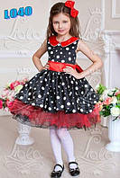 Детское нарядное платье L040, горох, стиляги, гангстер, ретро - прокат, киев, Троещина