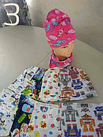Прикольная шапка с хомутом для девочки
