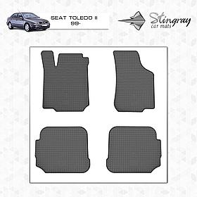 Коврики в салон Seat Toledo II c 1999 (4шт) Stingray 1020024