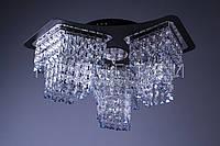 Хрустальная люстра с LED подсветкой на пульте управления P5-S1278/3/CH+BK
