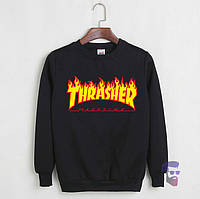 Свитшот черный Thrasher Magazine (мужской, женский, детский)