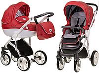 Детская универсальная коляска Mioobaby Zoom red/white (2 в1) купить оптом и в розницу в Украине 7 километр