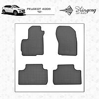 Коврики резиновые в салон Peugeot 4008 c 2012 (4шт) Stingray