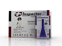 Капли на холку Inspector (инспектор) от гельминтов, блох и клещей для собак 10-25кг