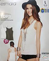 Майка футболка безрукавка женская трикотаж сток Германия Esmara евро L 44 46