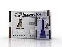 Капли на холку Inspector (инспектор) от гельминтов, блох и клещей для собак 25-40кг