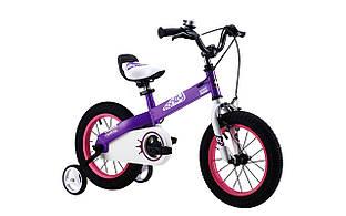 """Велосипед RoyalBaby HONEY 14"""", OFFICIAL UA, фиолетовый"""