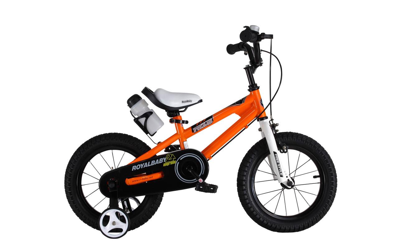"""Велосипед RoyalBaby FREESTYLE 14"""", OFFICIAL UA, оранжевый"""