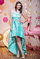 Нарядное ассиметричное платье из тафты