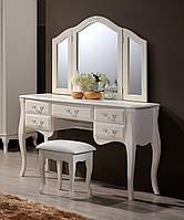 Будуарный столик + зеркало + пуф Богемия