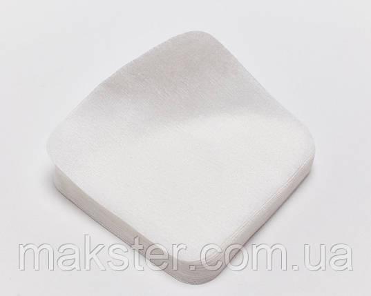 Салфетки одноразовые, 20см х20см, сетка, 40 г/м2, белые, 100шт., фото 2