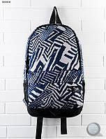 Рюкзак (с отделением для ноутбука до 17″) Staff - Print 23L Art. RB0006 (тёмно-синий \ белый)