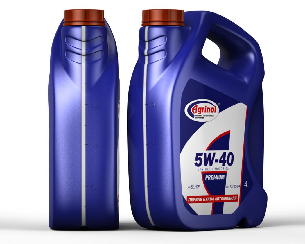 Синтетическое моторное масло Синтетика AGRINOL (Агринол)  5w-40 4л