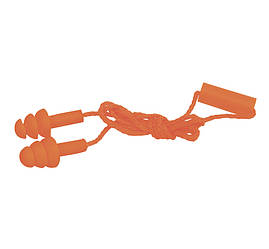 Беруши защитные тройные, пара, на шнурке (Сілікон)
