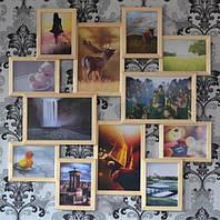 Мультирамка Большое Путешествие на 12 фото (Натуральное Дерево)