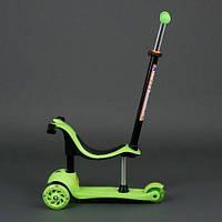 Самокат беговел детский трехколесный Scooter 3 в 1, свет. колеса PU