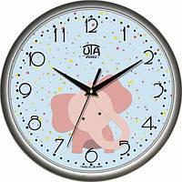 Настенные Часы Сlassic Радостный Слоненок Grey