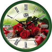 Настенные Часы Сlassic Букет красных роз Green