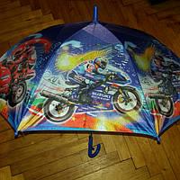 Зонт трость для хлопчика мотоцикли, фото 1