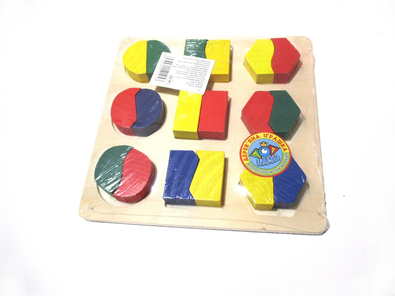 Деревянная игрушка дроби 2 в 1