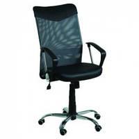 Кресло компьютерное АЭРО HB Line сиденье Сетка черная,Неаполь N-20/спинка Сетка черная, вставка Неаполь N-20