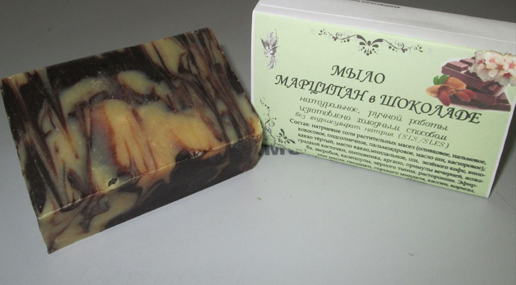 Мыло  Шоколадный марципан для омоложения лица - Салюс-экологически чистые продукты, натуральная косметика  в Одессе