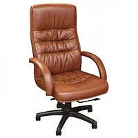 Кресло для руководителя Орхидея НВ, кожзам коричневый (643-B HI-BACK BROWN PU+PVC HL014 MECH)