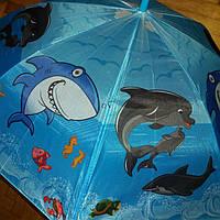 Зонт трость дельфины