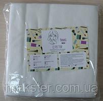 Салфетки одноразовые гладкие, 15см х15см, гладкие, 40 г/м2, белые, 100шт.