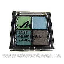 Тіні для повік 4 кольору Manhattan Miss Miami Nice 01 (Німеччина)
