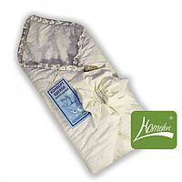 Теплый зимний конверт-одеяло для новорожденного младенца (80*80 см, хлопок, холлофайбер) ТМ Хомфорт Белый