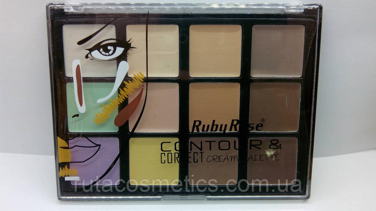 Набор консилеров Contour & Correct Cream Palette Ruby Rose