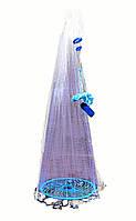Кастинговая сеть «Американка» Ø3.2 м, из капрона, ячейка 10 мм (с кольцом фрисби)