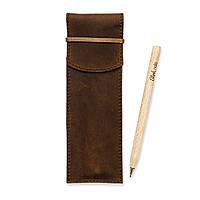 Чехол для ручек и каранашей 1.0 (+эко-ручка и карандаш) из натуральной кожи