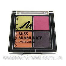 Тіні для повік 4 кольору Manhattan Miss Miami Nice 02 (Німеччина)