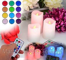 """Набор светодиодных свечей """"Luma Candles 12 цветов , фото 3"""