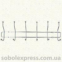 Вешалка настенная металлическая, 6 крючков
