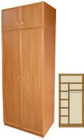 Шкаф в прихожую двухсекционный (4 полки + штанга)