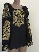 Жіноча вишита сорочка на домотканому полотні, фото 1