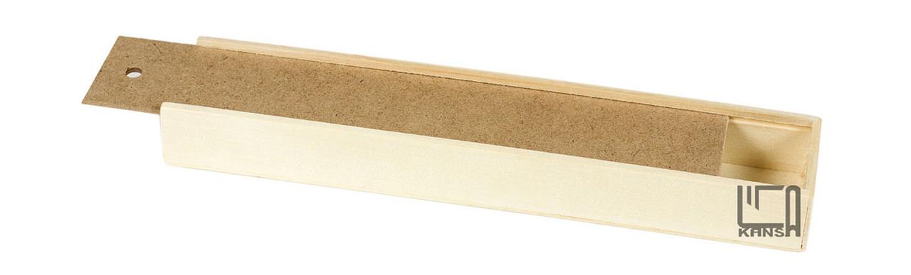 Пенал для кистей деревянный 25 см.Атлас