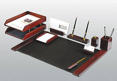 Настольные офисные наборы, лотки для документов
