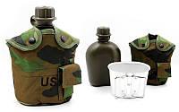 Фляга с котелком V-1л в чехле TY-4834-1 (пластик, чехол камуфляж Multicam)